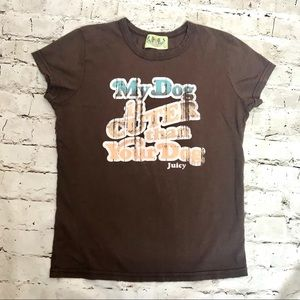 Juicy Couture Cuter Dog Tee Size L